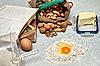 Baking fresh dough | Stock Foto