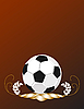 Vector clipart: Soccer ball background