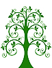 Vector clipart: openwork tree