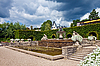 A fountain in the park of roses. Germany, Baden-Baden. | Stock Foto