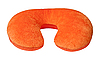 Orange neck pillow, isolated on white. | Stock Foto