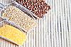 Set cereals for healthy diet. | Stock Foto