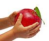 ID 3018864 | Roter Apfel in der Hände von Kinder | Foto mit hoher Auflösung | CLIPARTO
