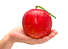 Photo 300 DPI: Red apple in hand
