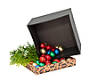 Gift box with balls | Stock Foto