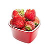 Strawberry, isolated on white.  | Stock Foto