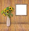 ID 3019070   Drewniane ramki na obrócisz desek ściany   Foto stockowe wysokiej rozdzielczości   KLIPARTO
