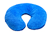 Blue neck pillow, isolated on white.  | Stock Foto