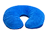 Photo 300 DPI: Blue neck pillow, isolated on white.
