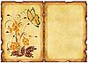 Antigua postal con motivos florales | Ilustración