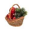 ID 3019269 | Weihnachtsschmuck im Weidenkorb | Foto mit hoher Auflösung | CLIPARTO
