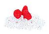 Ripe raspberries on the ice cubes. | Stock Foto