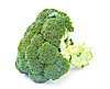 Broccoli, isolated on white. | Stock Foto