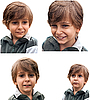 Set of portraits of emotional little boy. | Stock Foto