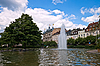 Central park with fountain. Baden-Baden. | Stock Foto
