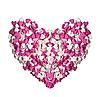 Фото 300 DPI: Сердце из сахаристых кондитерских изделий