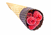 ID 3024374 | Raspberry ice cream cone isolated on white | High resolution stock photo | CLIPARTO