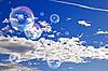 ID 3025126   Soap bubbles in the sky   High resolution stock photo   CLIPARTO