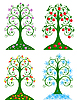 Four Seasonal trees | Stock Vector Graphics