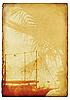Grunge sea background | Stock Illustration
