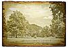 Старое пейзажное фотокарточка | Фото