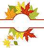 Vector clipart: card with autumn leaves