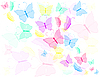 Vector clipart: Colorful butterfly, abstract background