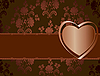 Vector clipart: floral card with heart
