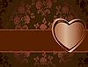 Векторный клипарт: цветочная открытка с сердечком