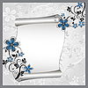 Vector clipart: floral pattern with scroll for text