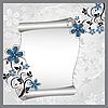 Векторный клипарт: цветочный узор и свиток для текста