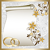 Vector clipart: Wedding card with floral pattern