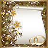 Vector clipart: Wedding card with floral pattern and place for text