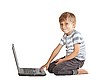 ID 3063283 | Boy with laptop isolated on white | High resolution stock photo | CLIPARTO