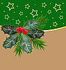 Vector clipart: Christmas and New Year card