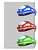Vector clipart: train in three colors