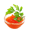 Red caviar with parsley | Stock Foto