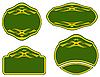 Vector clipart: green labels