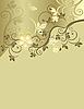 Vector clipart: golden floral pattern