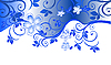 Vector clipart: Blue floral pattern