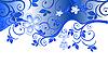 Векторный клипарт: Синий цветочный узор