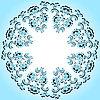 Vector clipart: Round blue floral frame