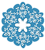Vector clipart: Round blue floral pattern