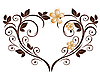 Vector clipart: heart as flower pattern