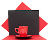 Red coffee cup | Stock Foto