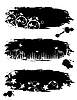 Vector clipart: Grunge banner with floral pattern