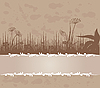 Vector clipart: Vintage background with grass