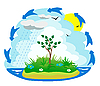 Vector clipart: the water cycle