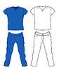 Vector clipart: Jeans and T-shirt. Men`s Clothing