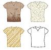 Vector clipart: set design t-shirts